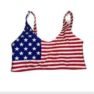 American Flag Bikini Top Size Small